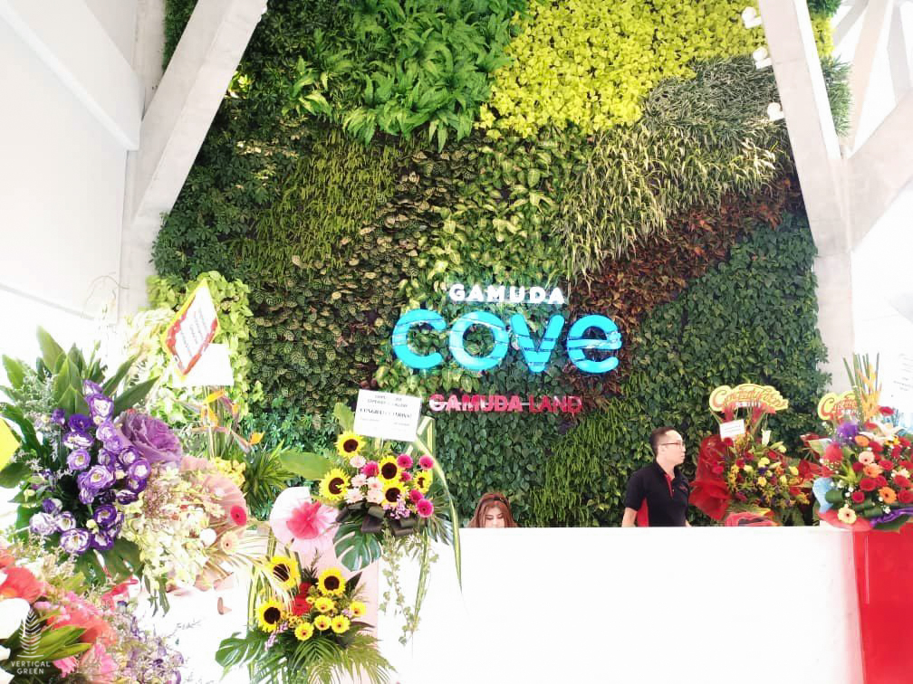 green wall gamuda cove malaysia