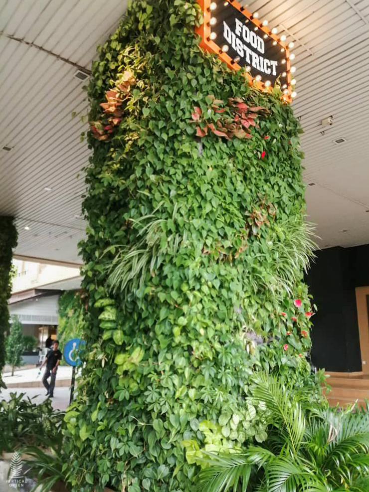 Green wall Malaysia plaza shah alam