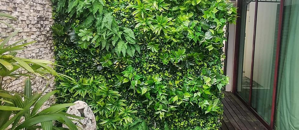 artificial plant green wall maintenance