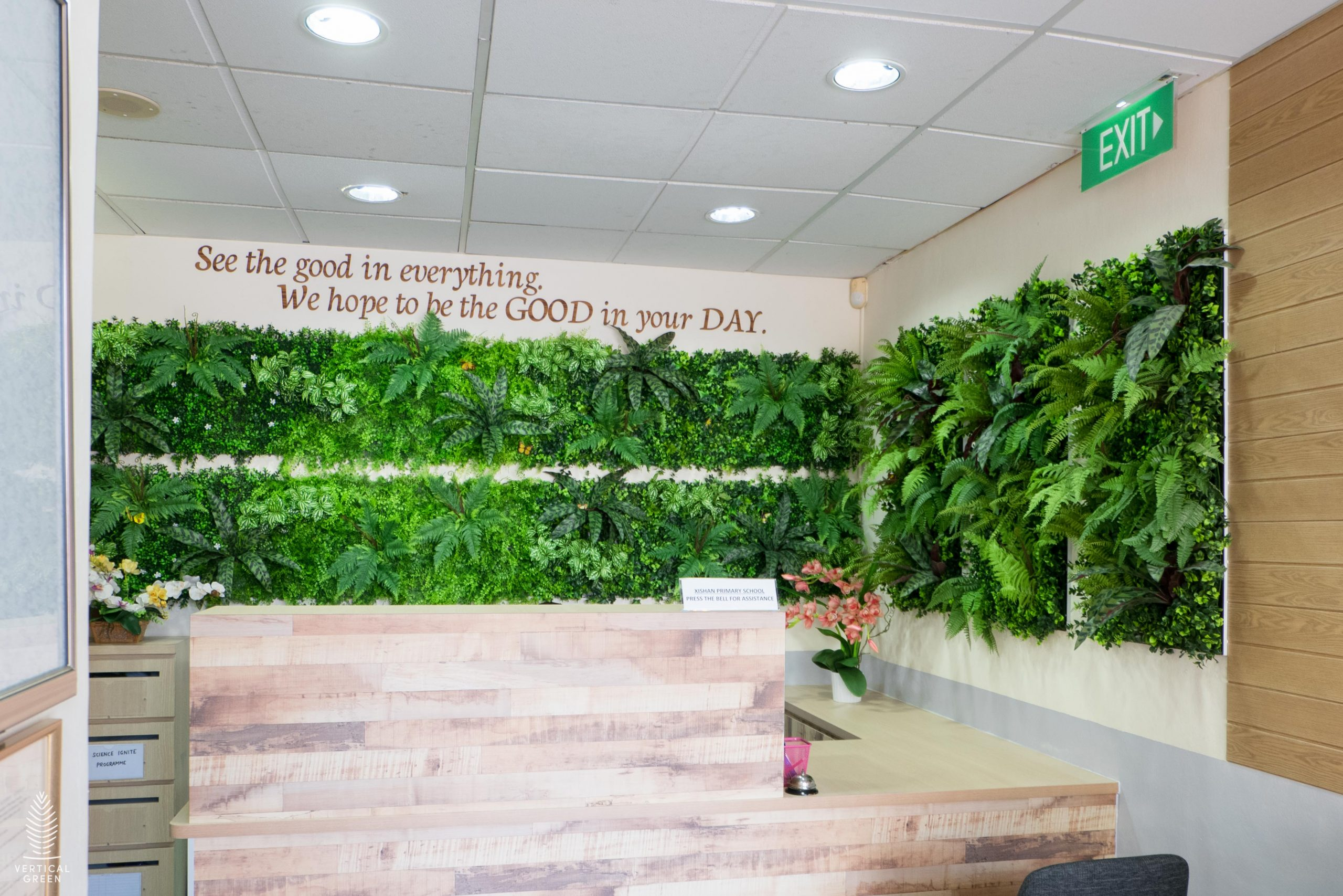 Artificial green wall acoustic-Xishan-Primary-School-2