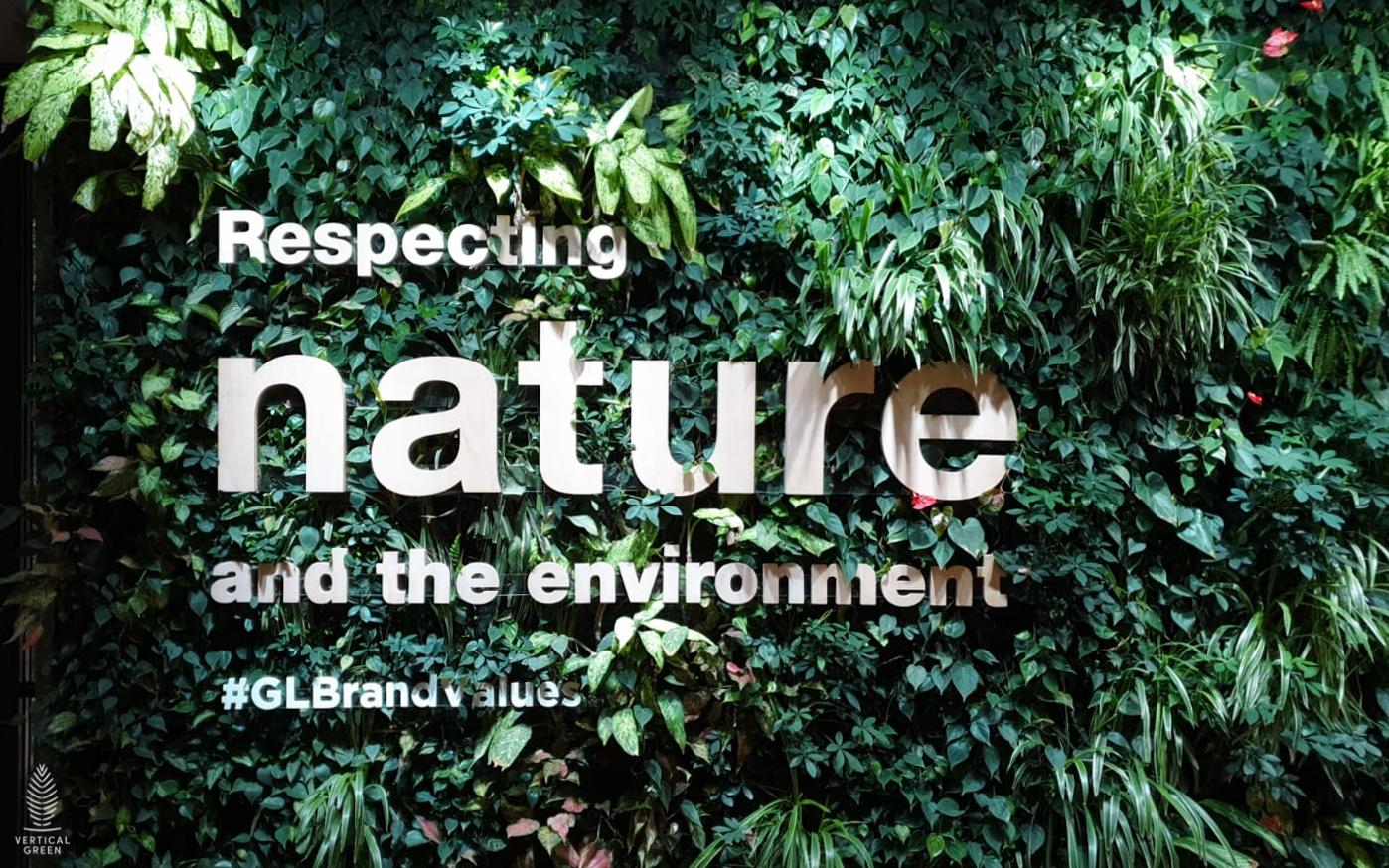 green wall at gamudaland malaysia