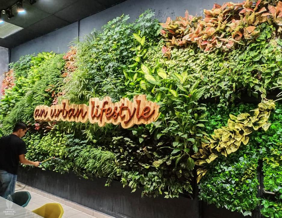 green wall ctrm cafe malaysia