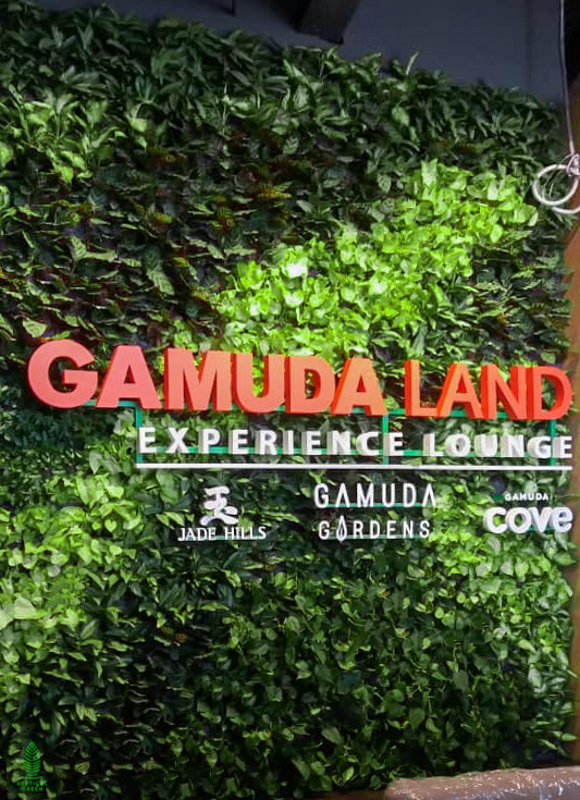 green wall gamuda showroom