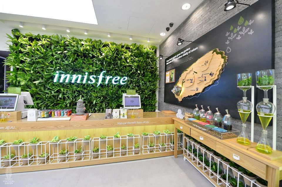 innisfree green wall malaysia sunway