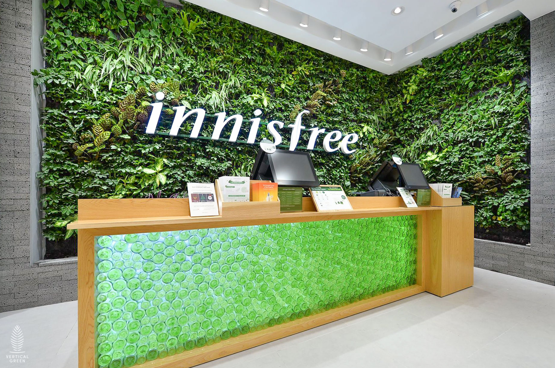 beautiful green wall innisfree malaysia