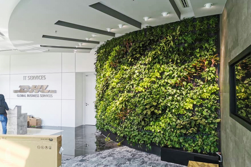 Green Wall at DHL Office Lobby in Malaysia